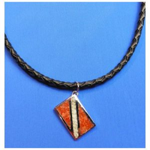 pendant braided leather